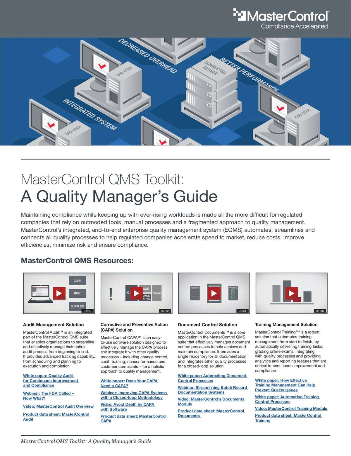 Quality Management System (QMS) Toolkit