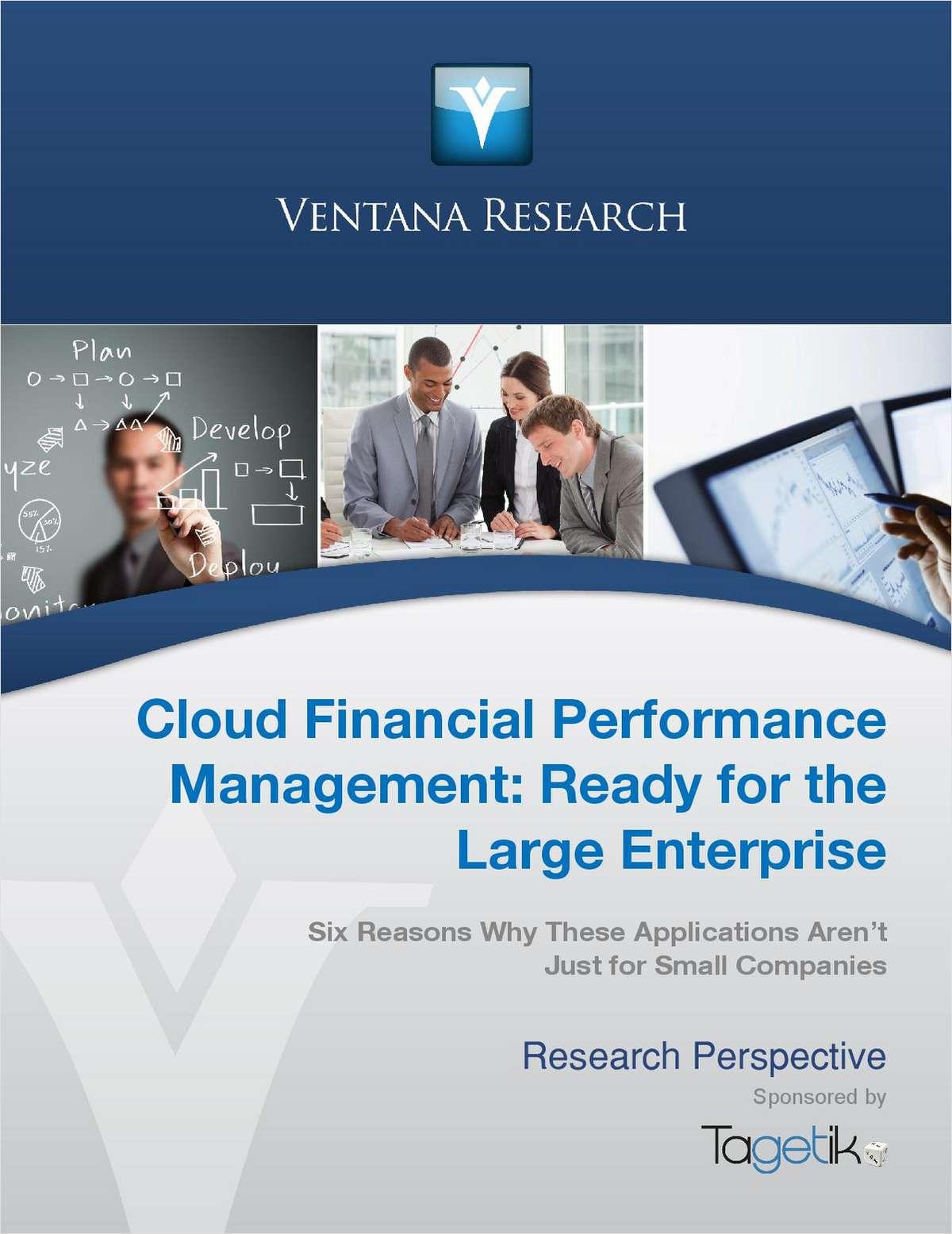 Ventana Research: Cloud Financial Management