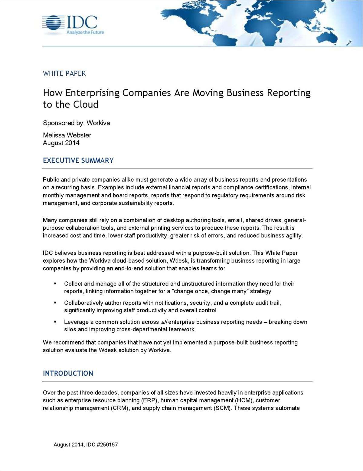 How Enterprising Companies Are Moving Business Reporting to the Cloud
