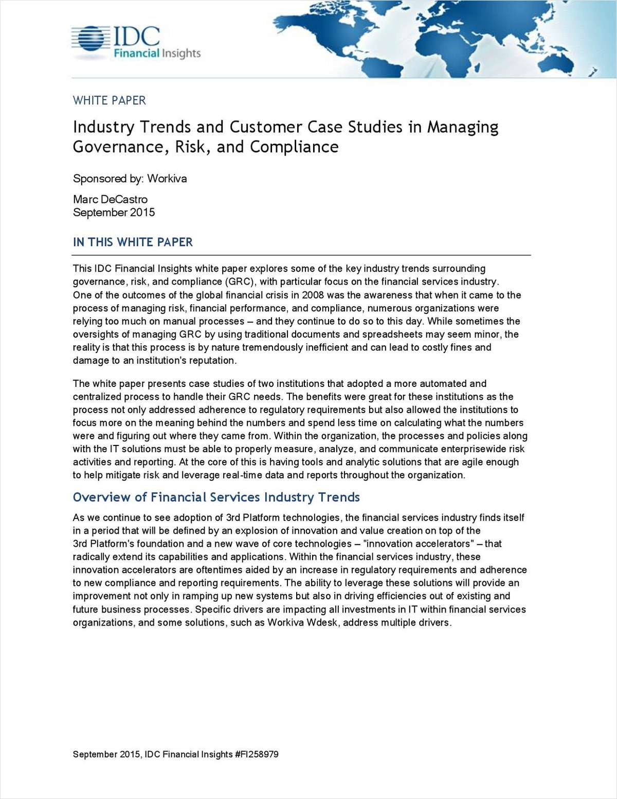 Industry Trends and Customer Case Studies in Managing GRC