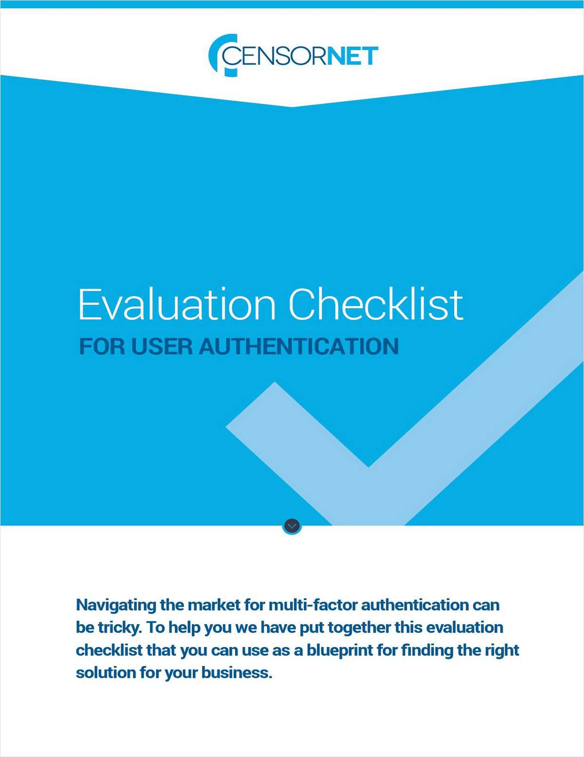 Multi-factor Authentication Evaluation Checklist