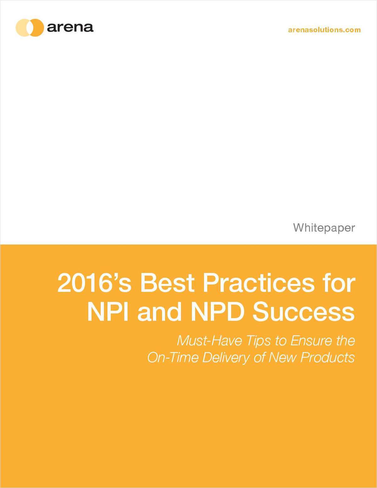 2016 Best Practices for NPI & NPD Success