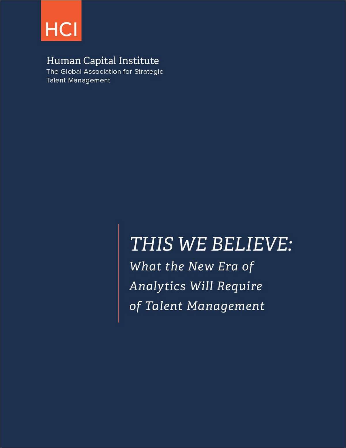 What the New Era of Analytics Will Require of Talent Management