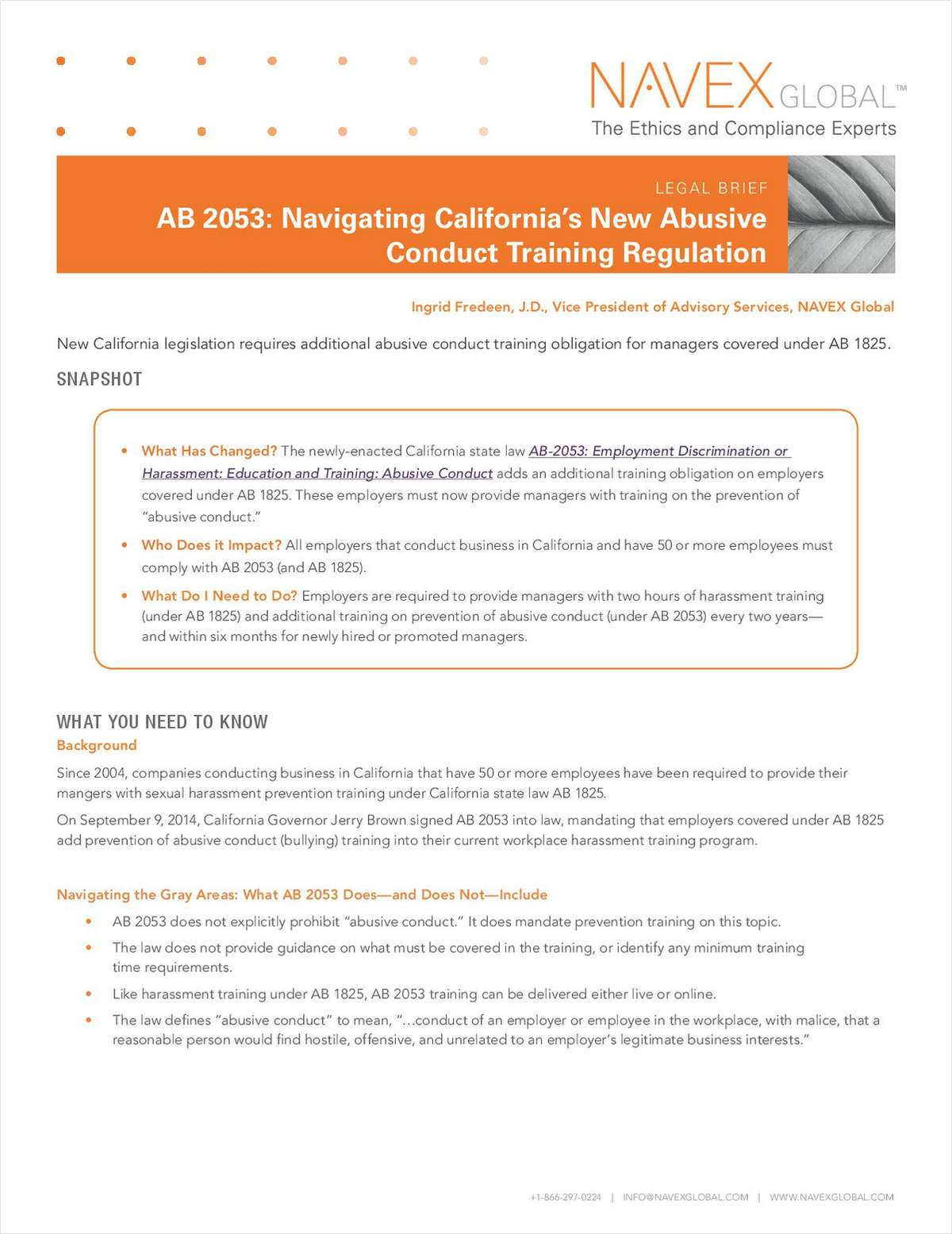 How to Navigate California's New Abusive Conduct Training Regulation (AB 2053)