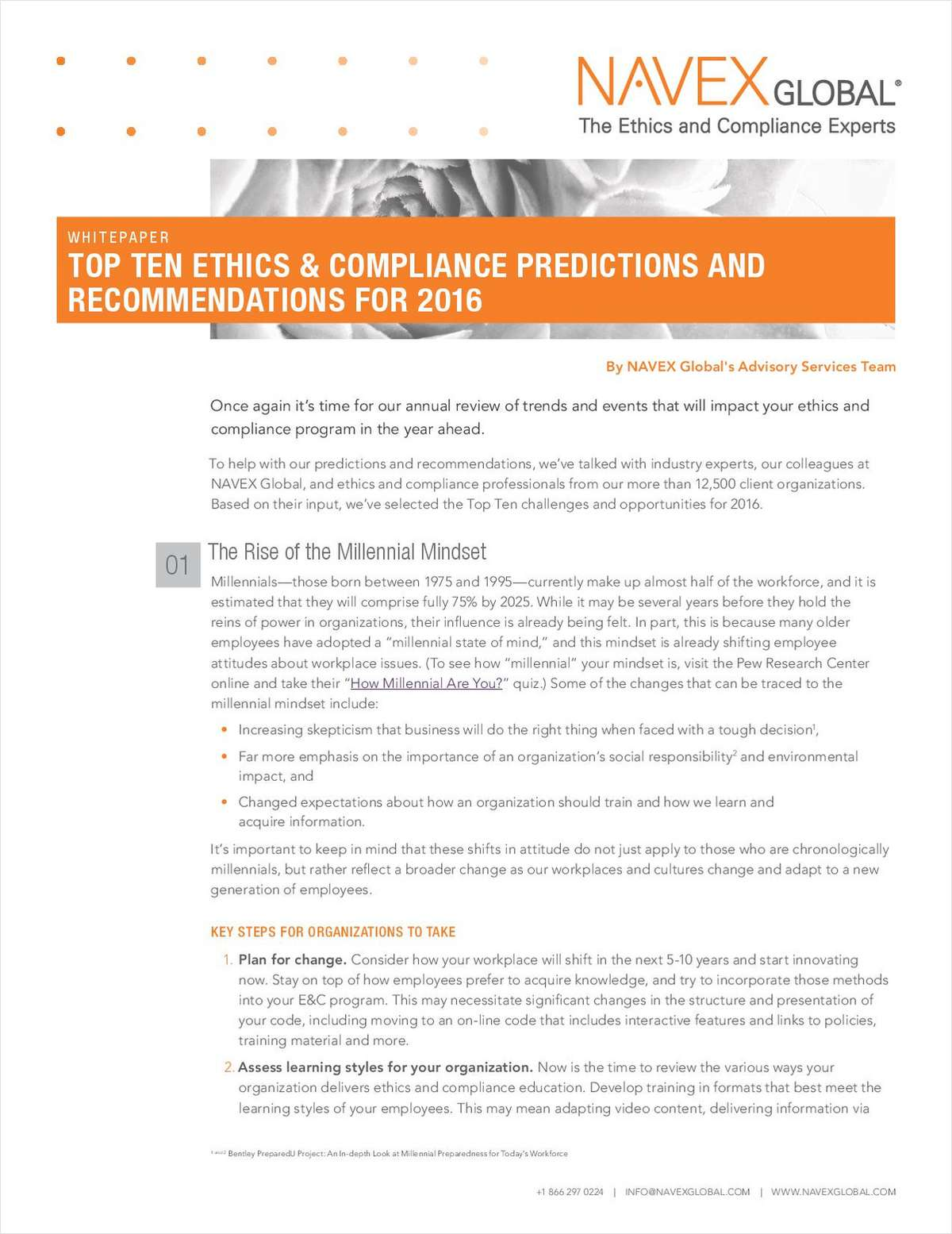 Top Ten E&C Predictions for 2016 for Ethics, Legal and Compliance Professionals