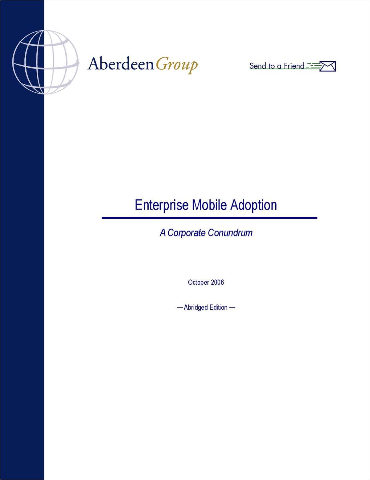 Enterprise Mobile Adoption
