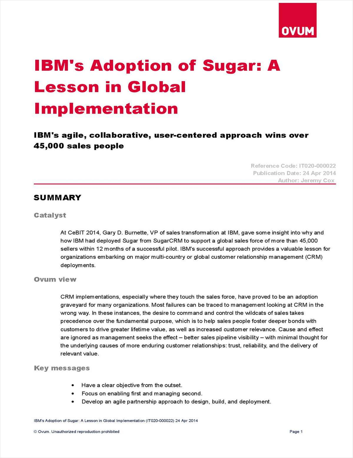 Learn How IBM Transformed Their Sales Team with SugarCRM