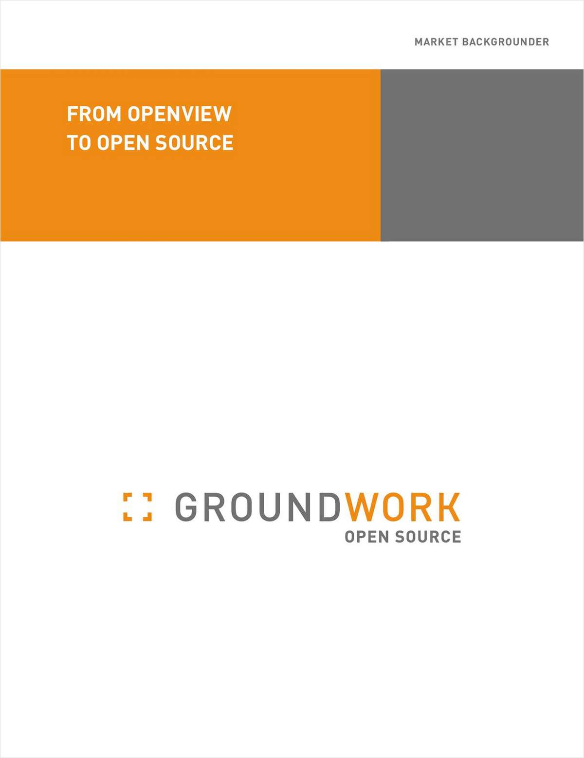 From OpenView to Open Source