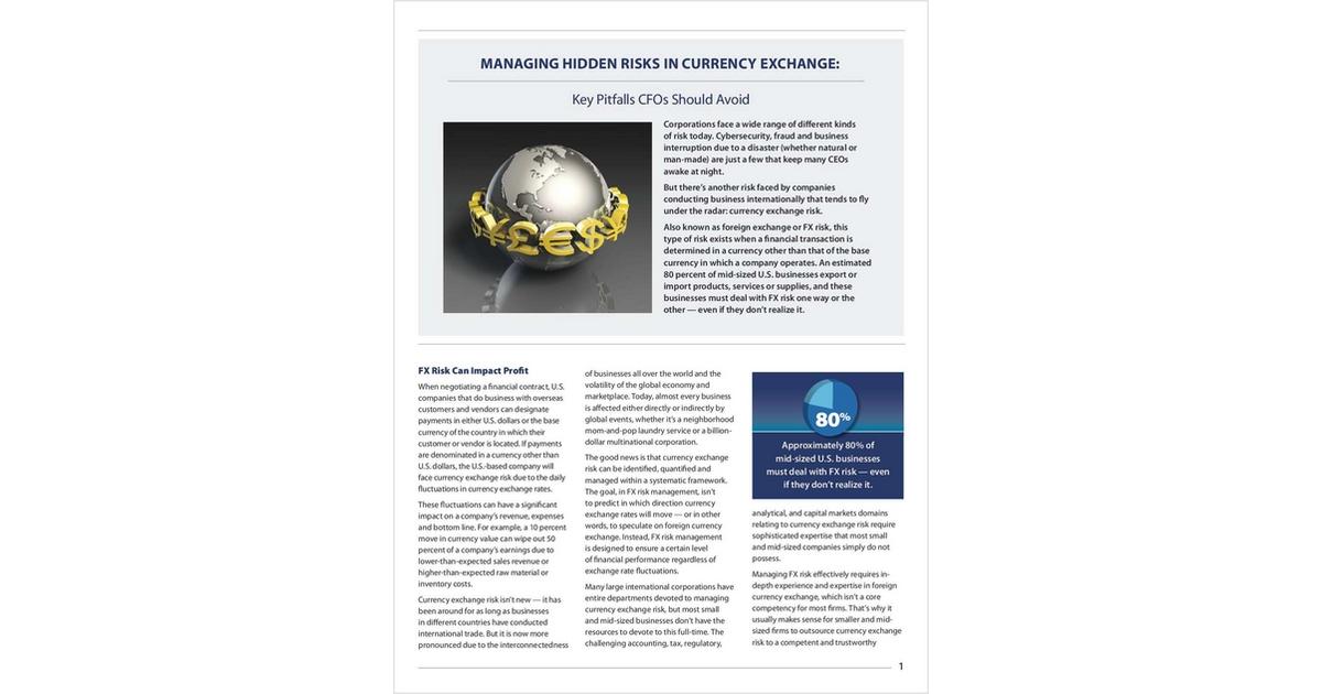 Key Pitfalls CFOs Should Avoid in Currency Exchange Risk