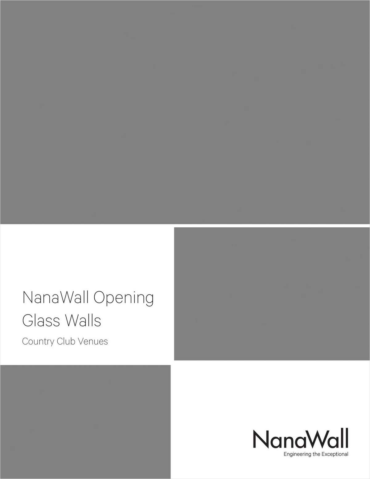 NanaWall Opening Glass Walls: Country Club Venues