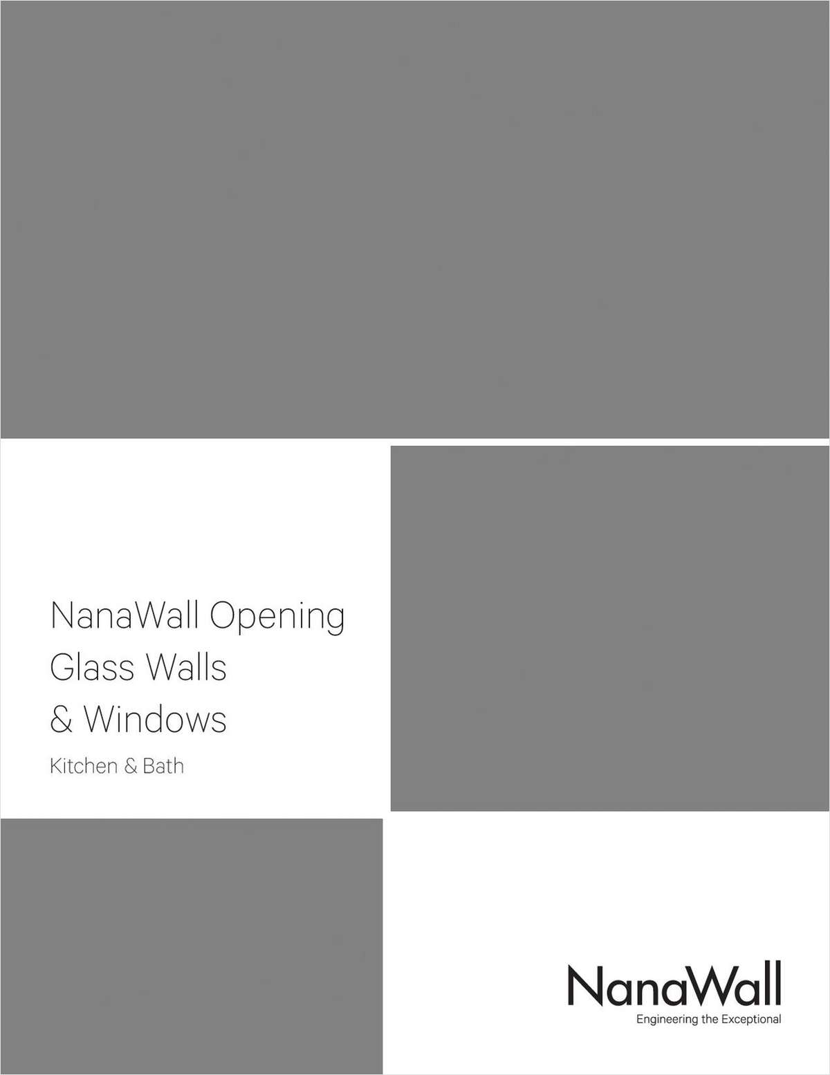 NanaWall Opening Glass Walls & Windows for Kitchens & Baths