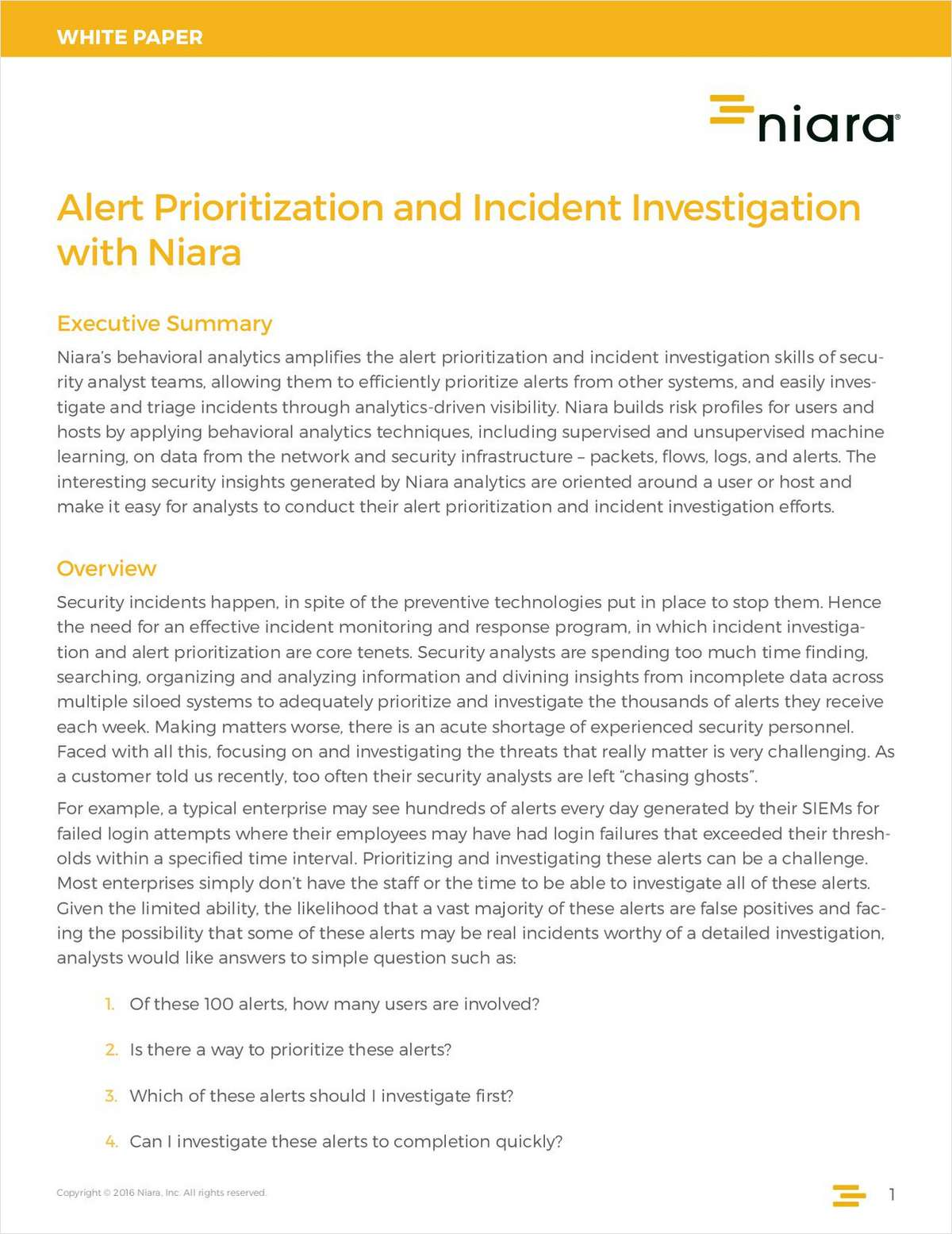 Alert Prioritization and Incident Investigation