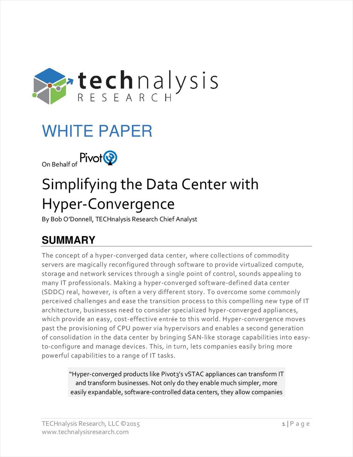 Simplify Your Data Center with Hyper-Convergence