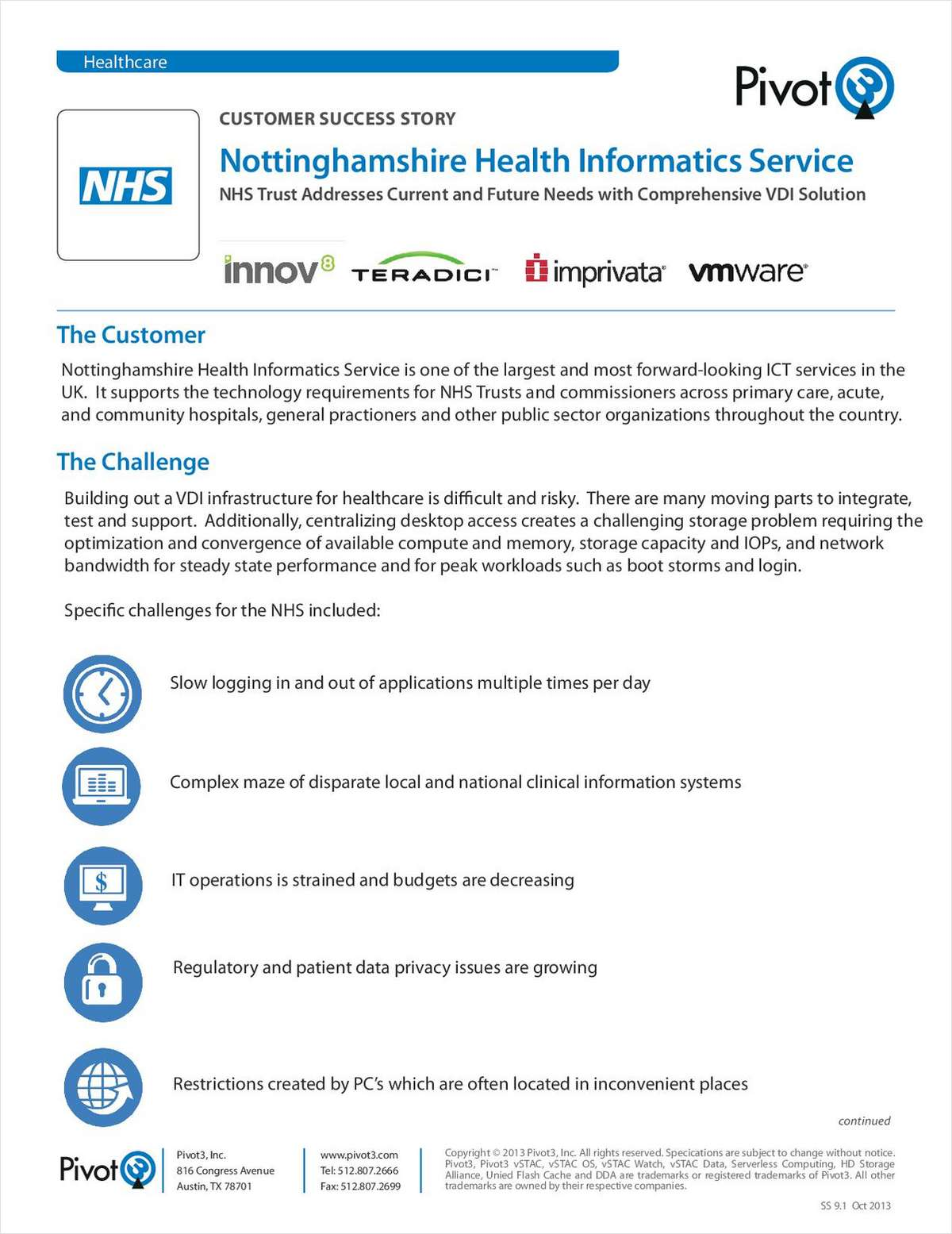 A VDI Infrastructure Case Study: Nottinghamshire Health Informatics Service