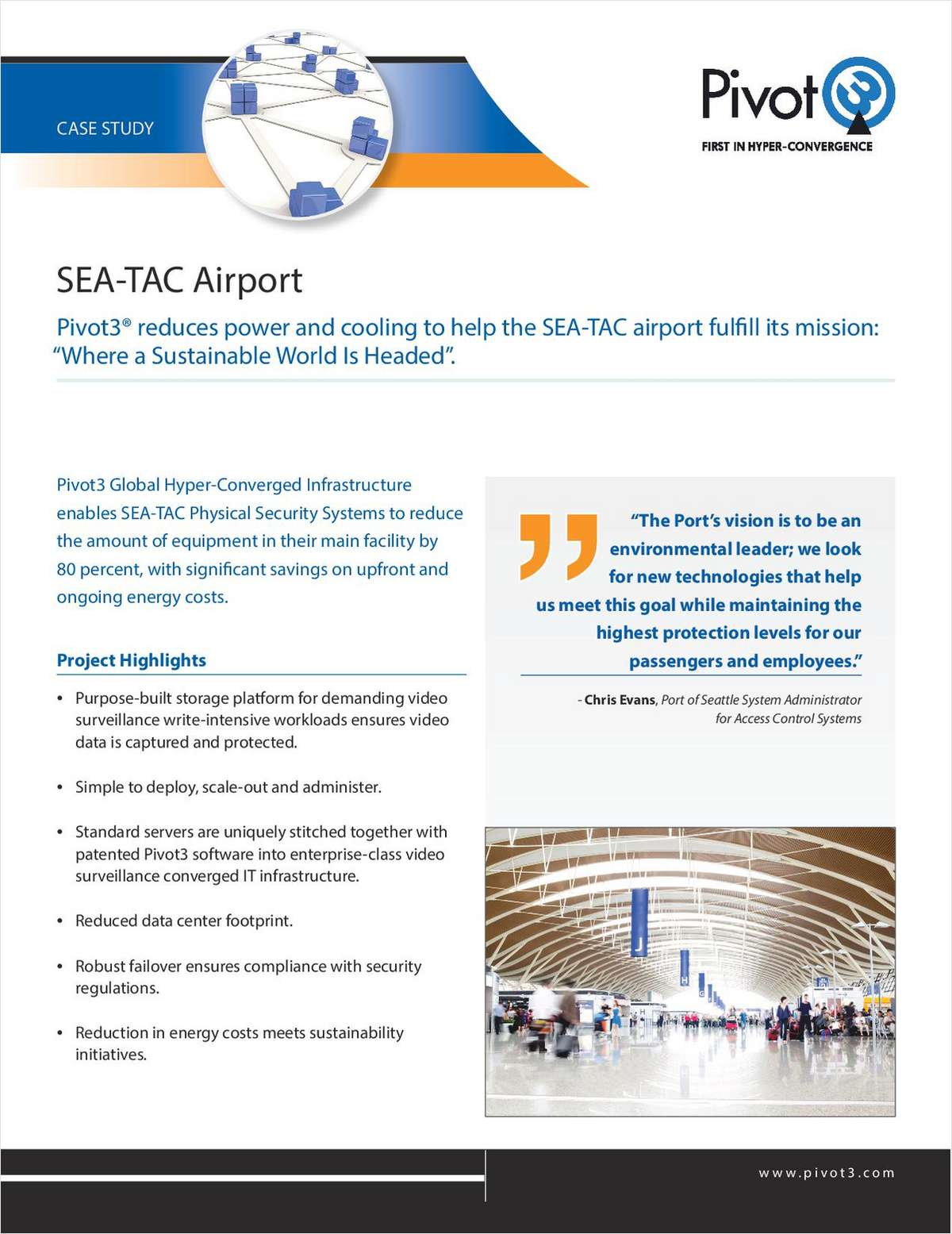SEA-TAC Airport Enterprise Storage Strategy Fosters Sustainability