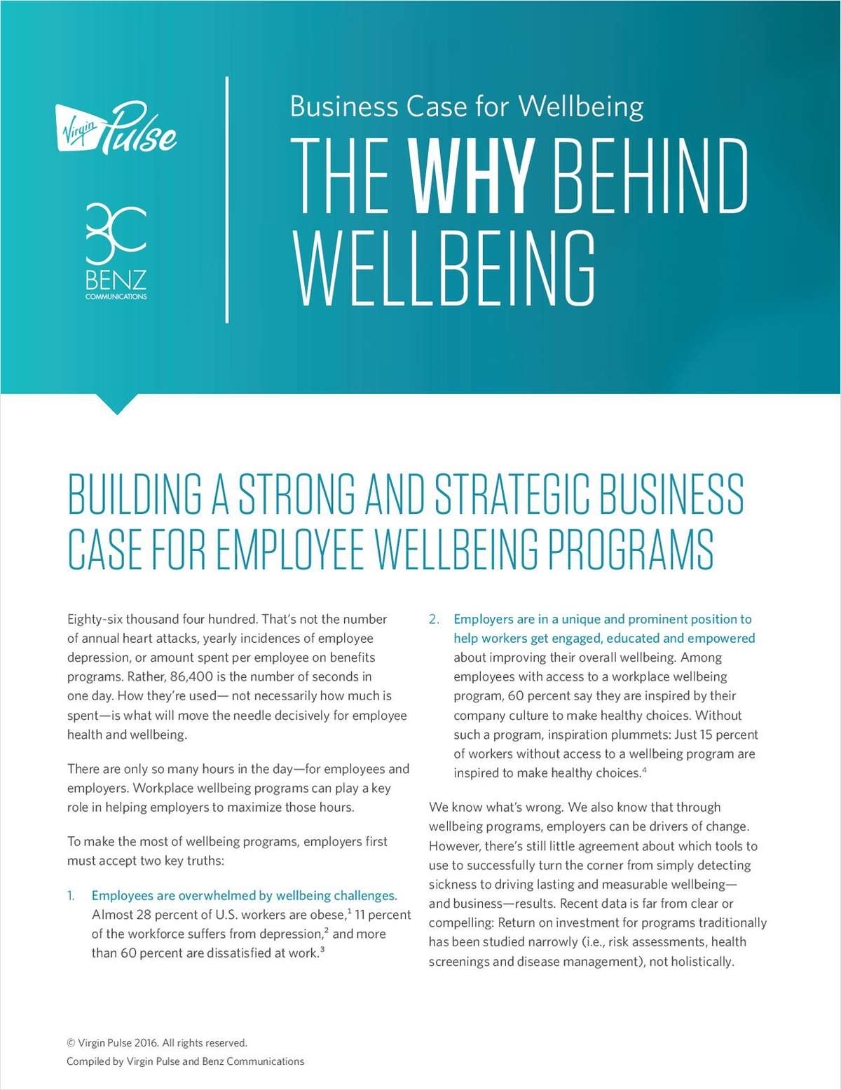 The Why Behind Wellbeing