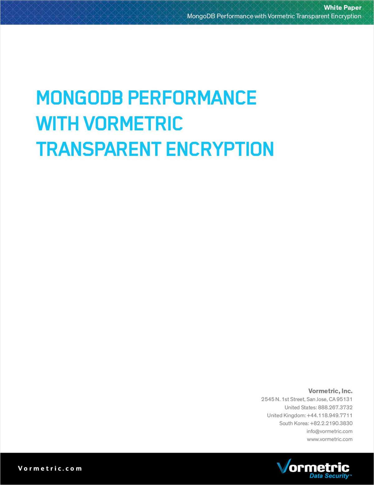 MongoDB Performance with Vormetric Transparent Encryption
