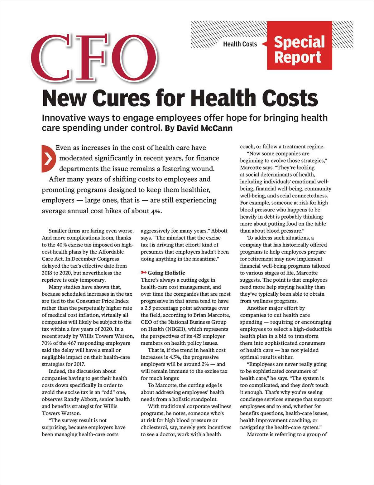 New Cures for Health Costs