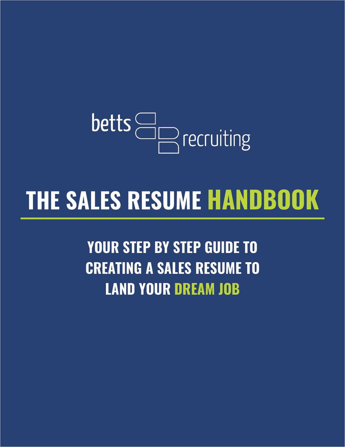 The Sales Resume Handbook