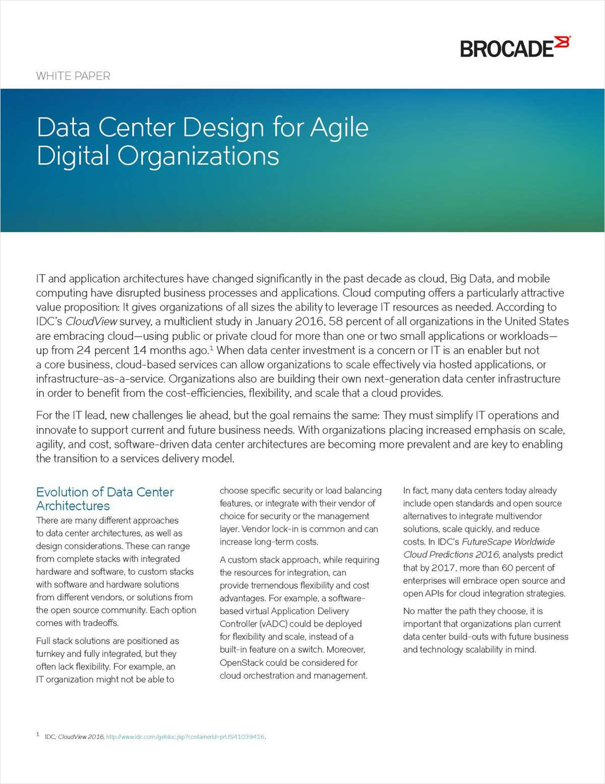 Building Agile Data Centers