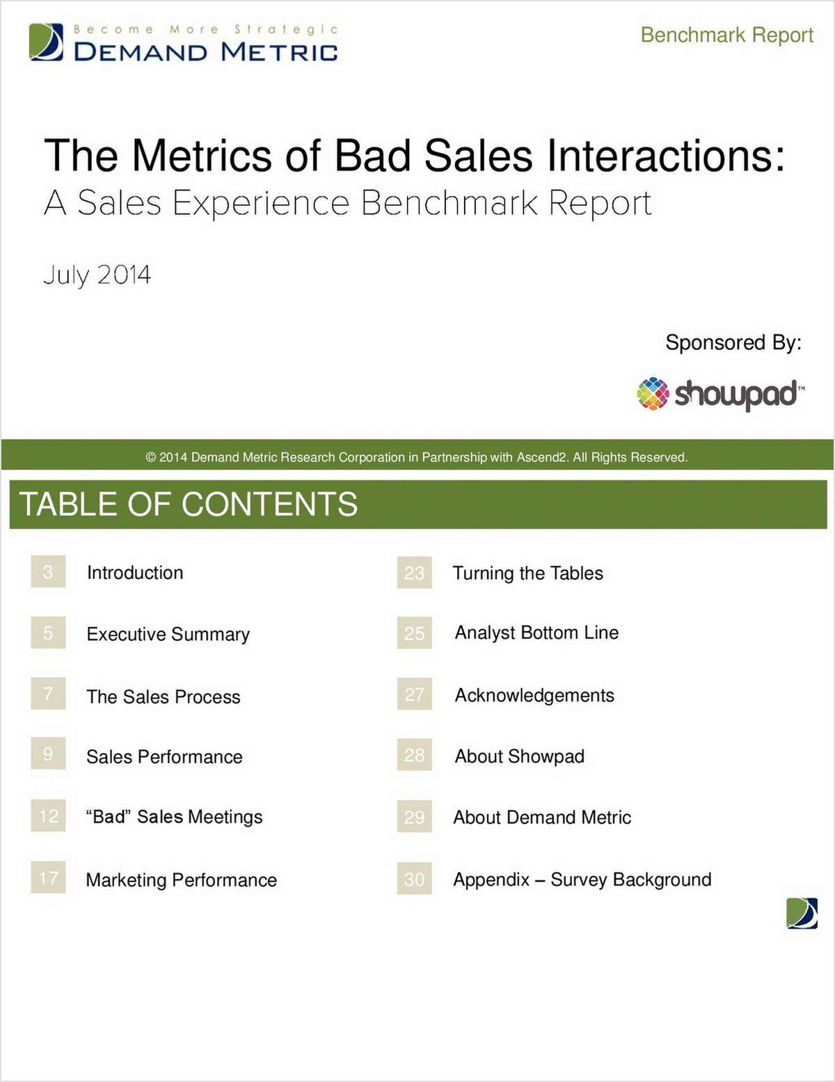The Metrics of Bad Sales Interactions: A Sales Experience Benchmark Report