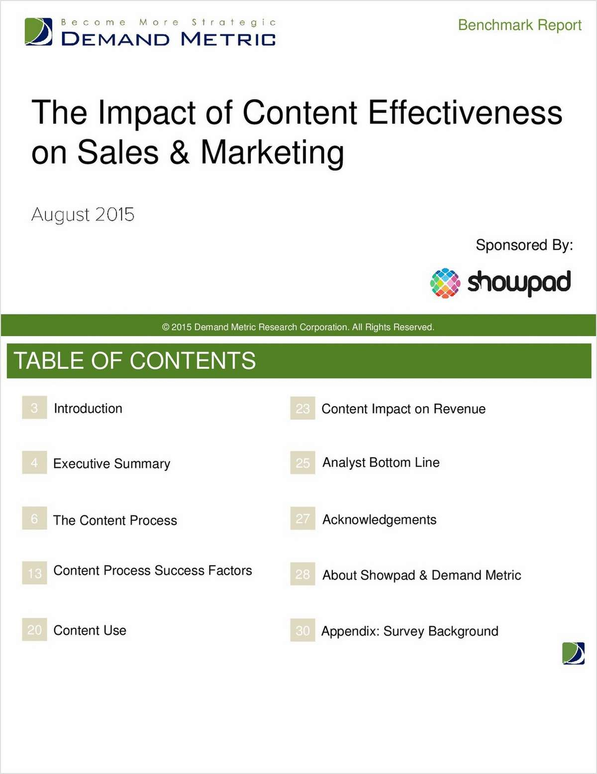 The Impact of Content Effectiveness on Sales and Marketing