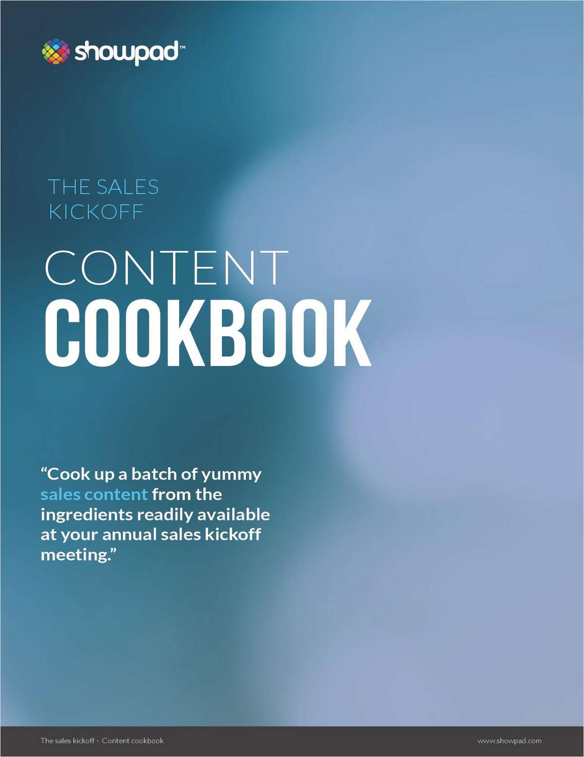 The Sales Kickoff Content Cookbook