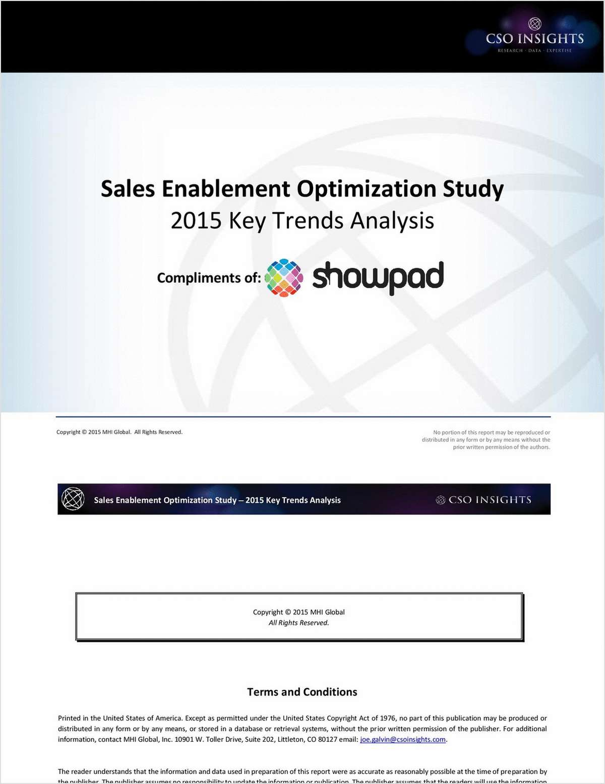 CSO Insights: Sales Enablement Optimization Study 2015 Key Trends Analysis