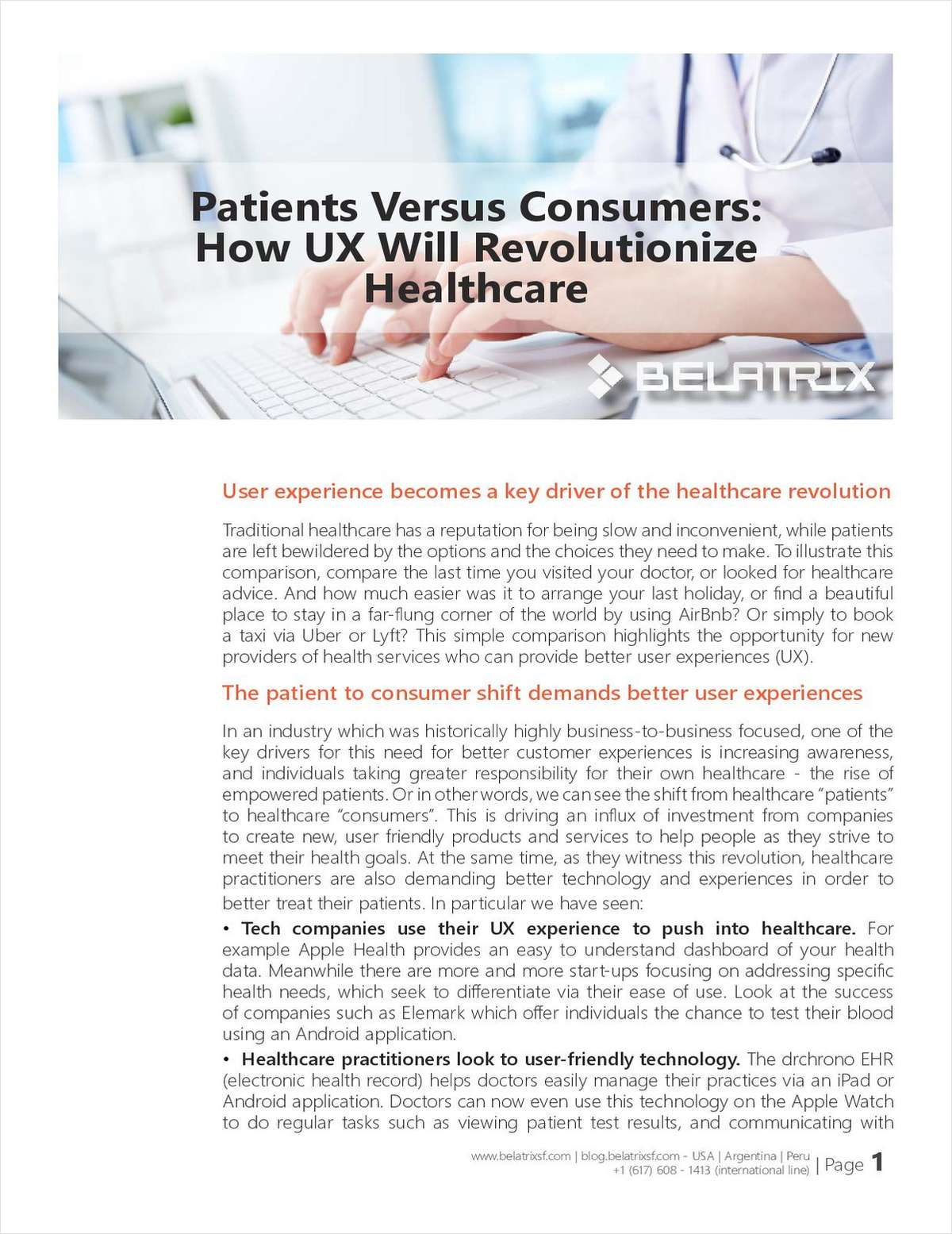 Patients Versus Consumers: How UX Will Revolutionize Healthcare