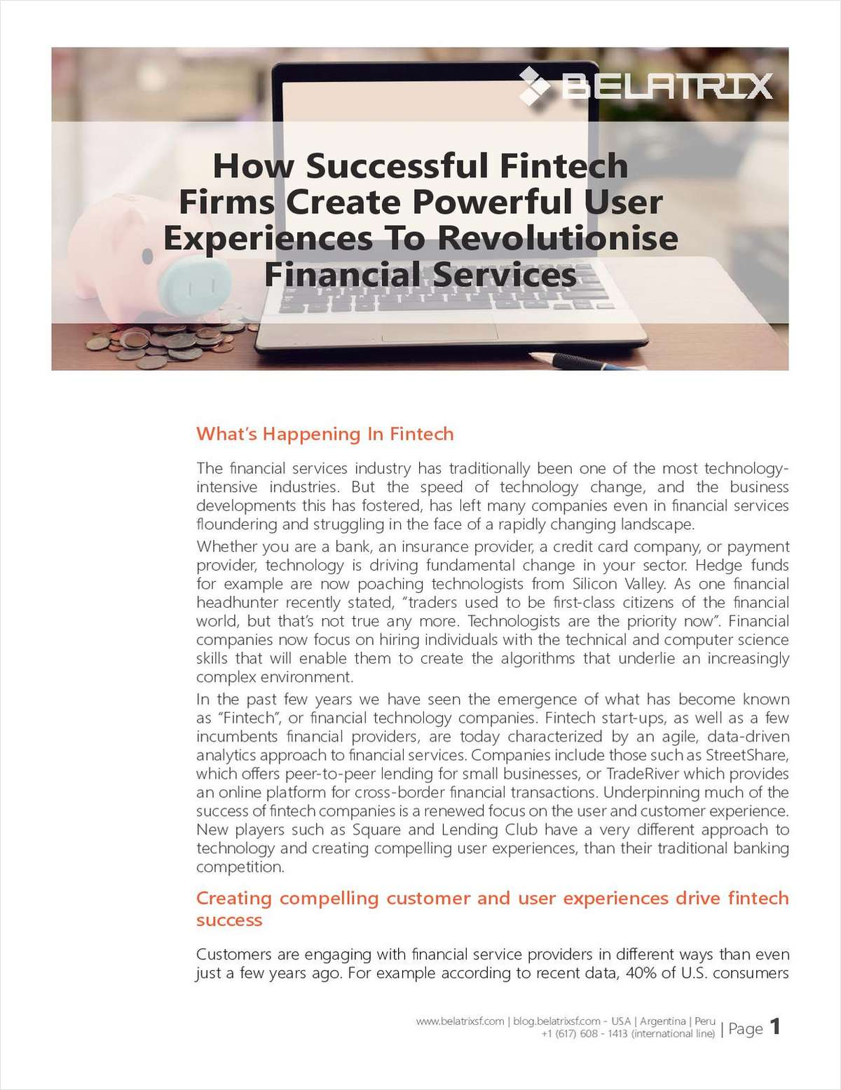How Successful Fintech Firms Create Powerful User Experiences to Revolutionize Financial Services