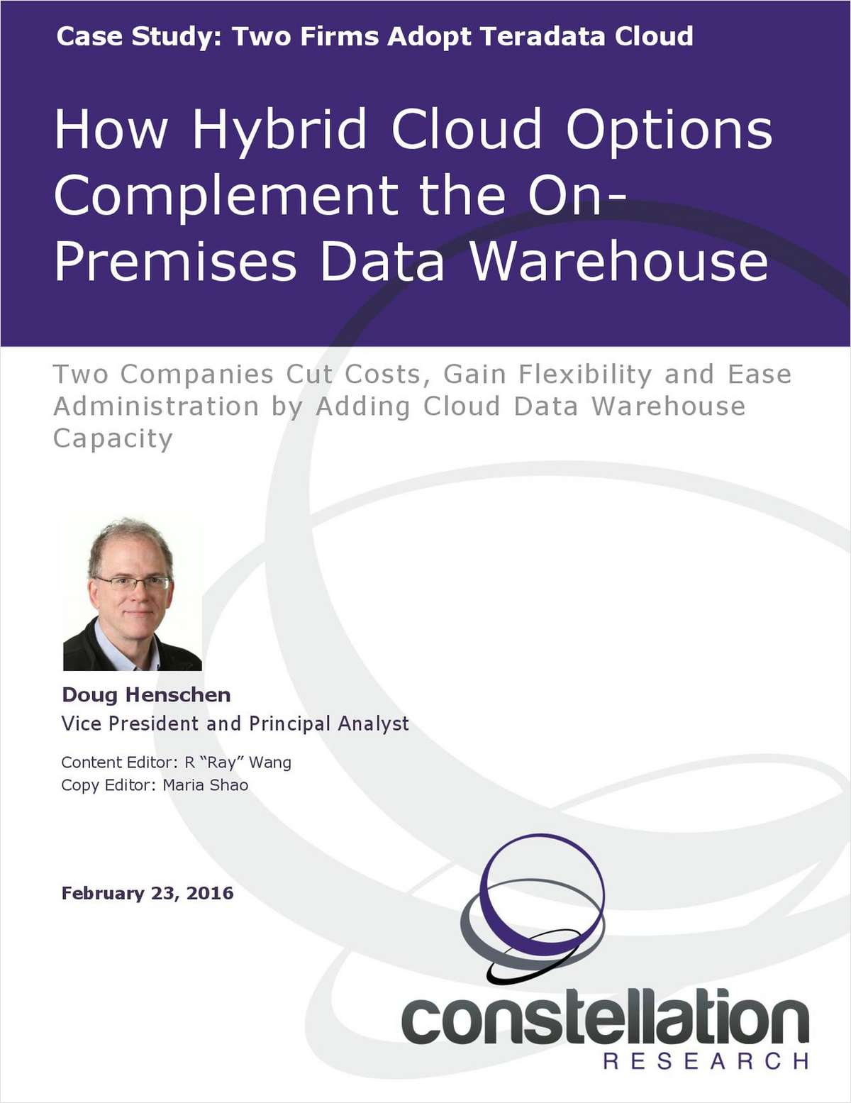 How Hybrid Cloud Options Complement the On Premises Data Warehouse