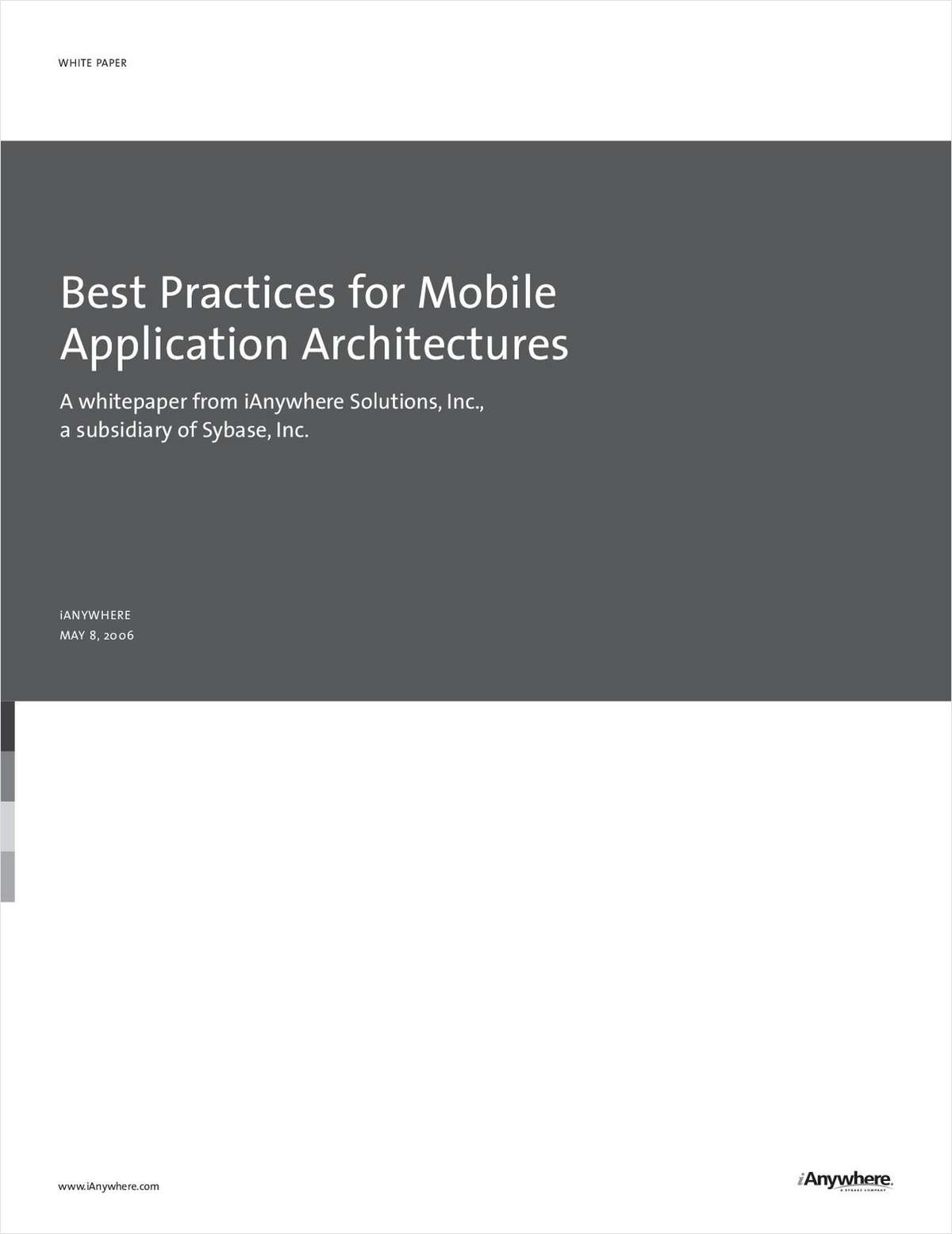 Best Practices for Mobile Application Architectures