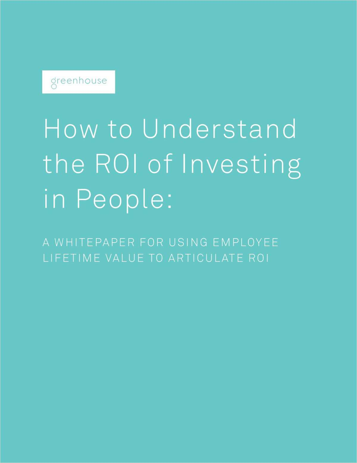 How to Understand the ROI of Investing in People