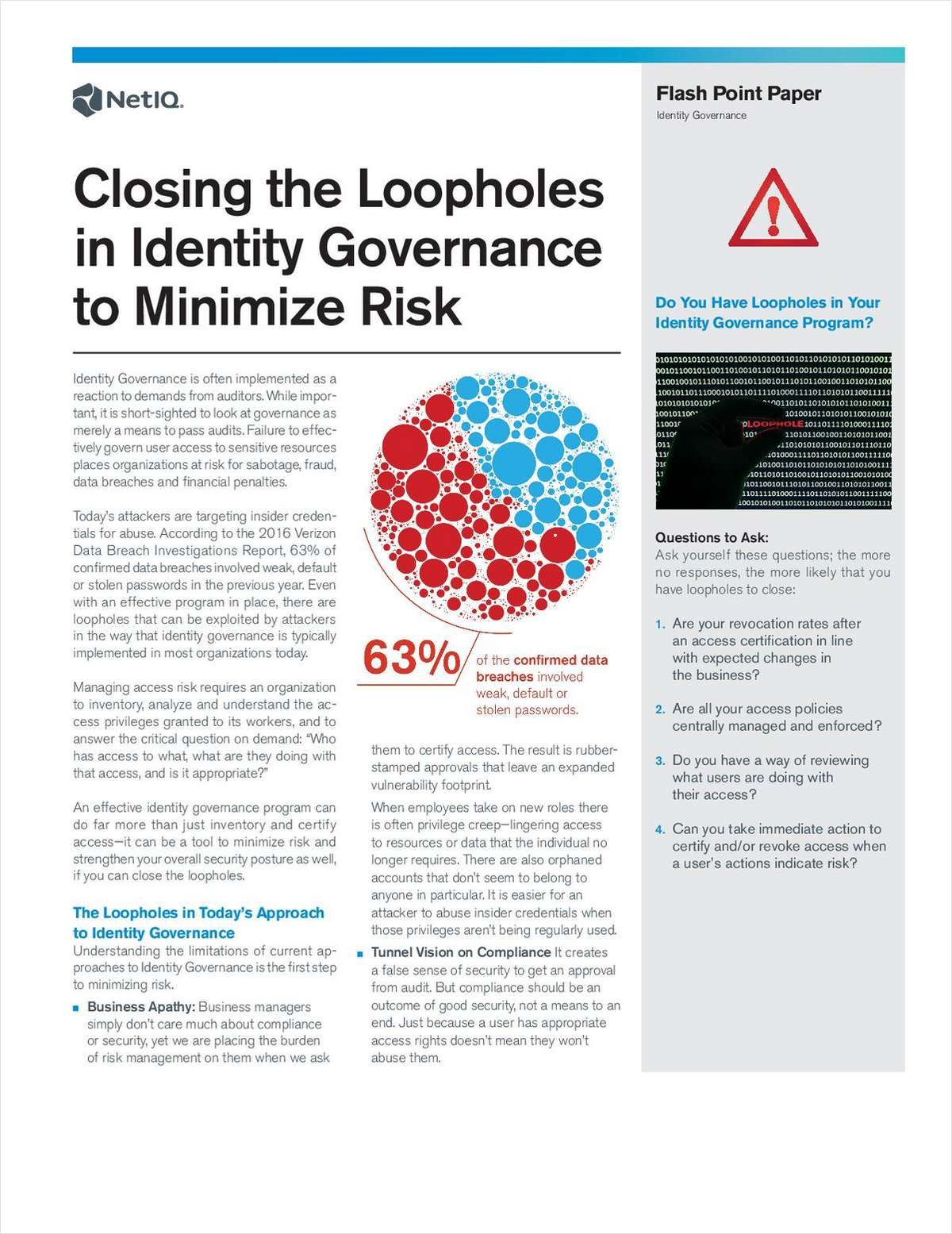 Closing the Loopholes in Identity Governance to Minimize Risk