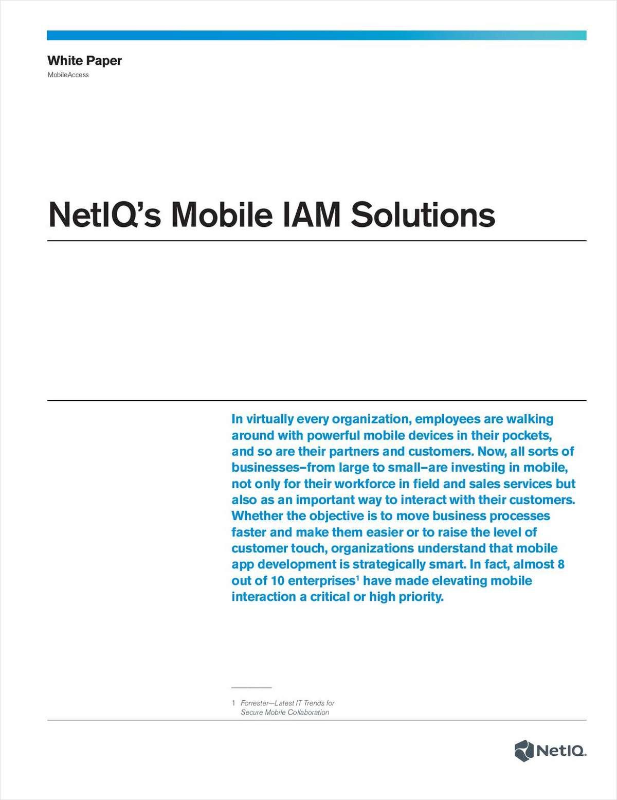 NetIQ's Mobile IAM Solutions