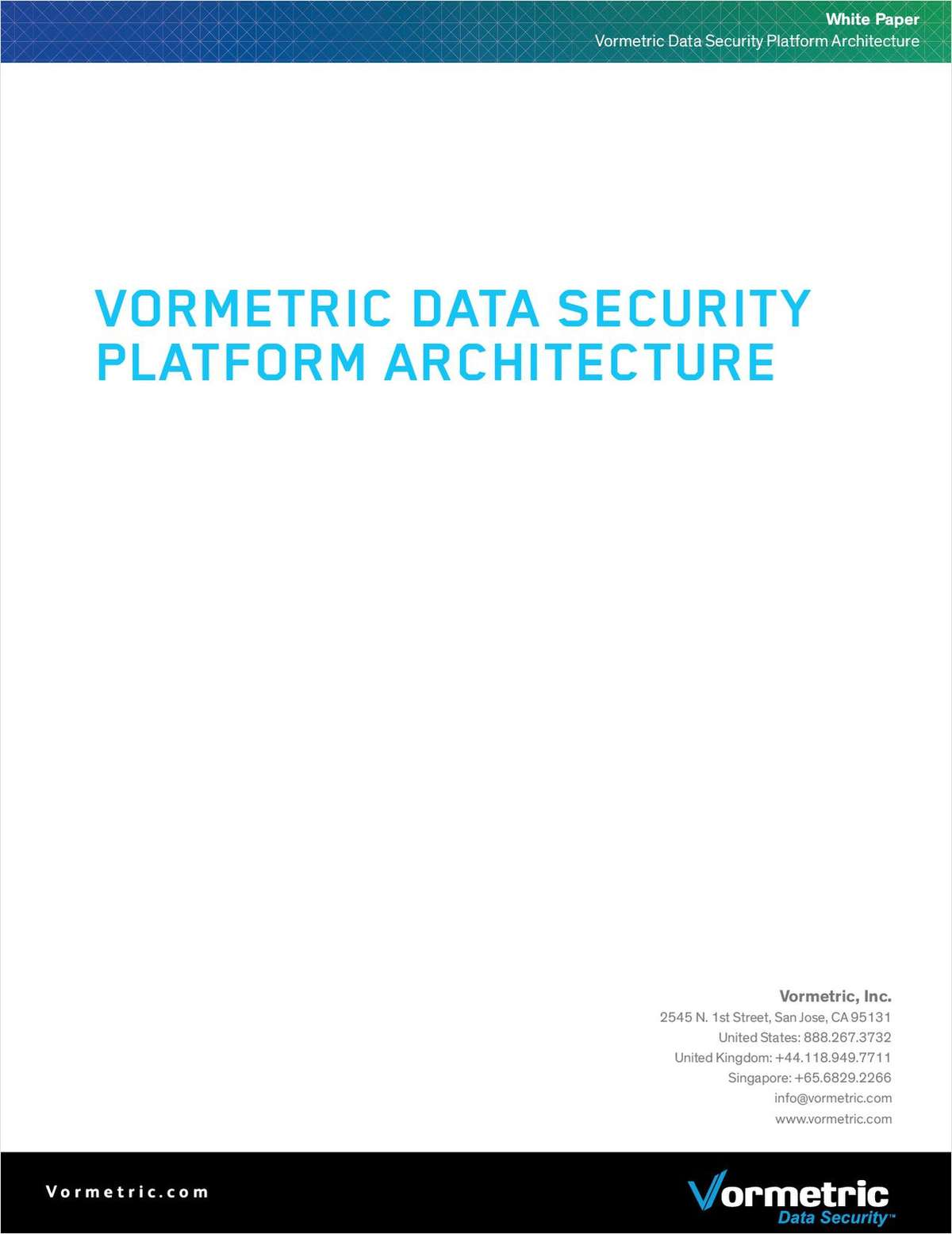 Vormetric Data Security Platform Architecture