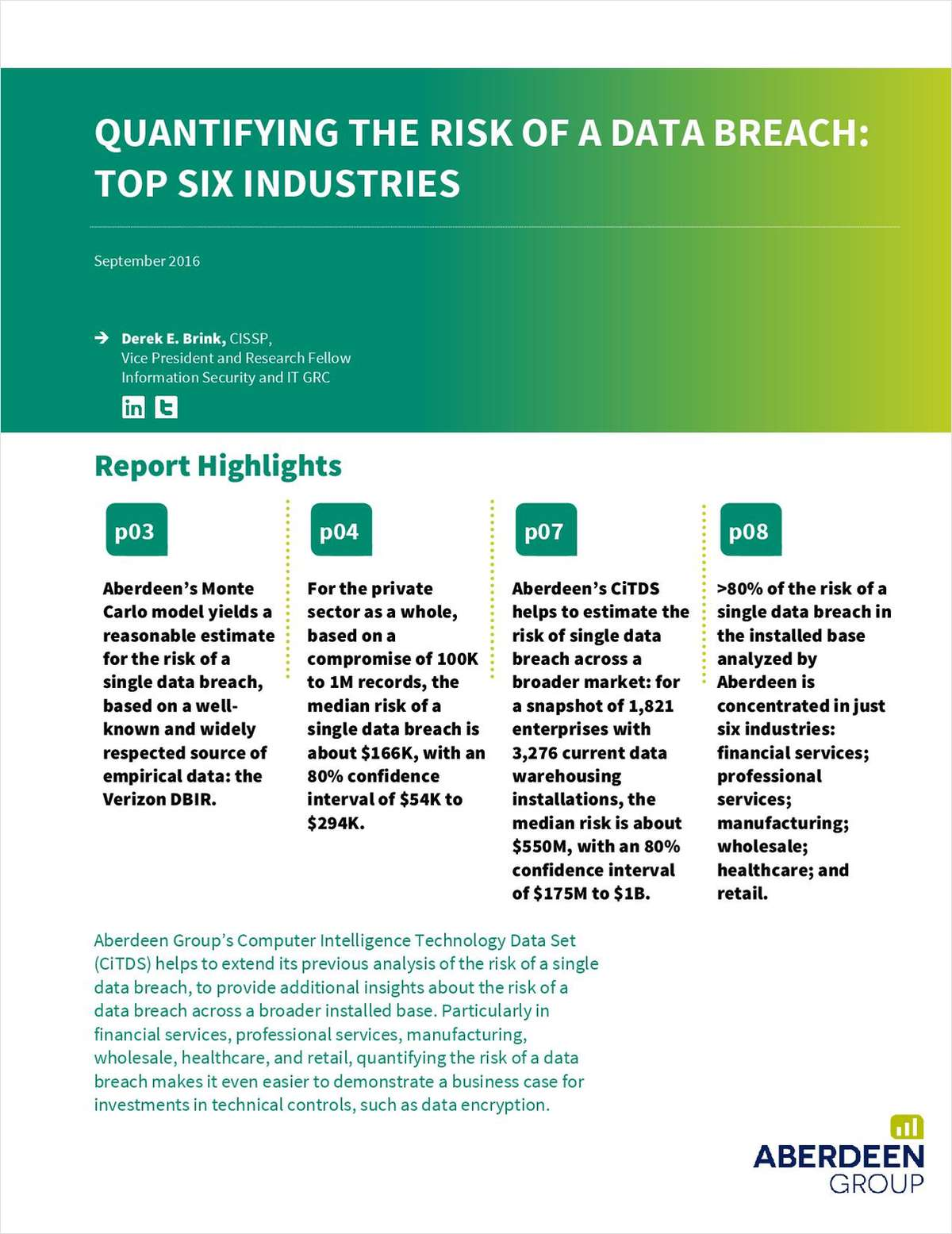 Quantifying the Risk of a Data Breach: Top Six Industries