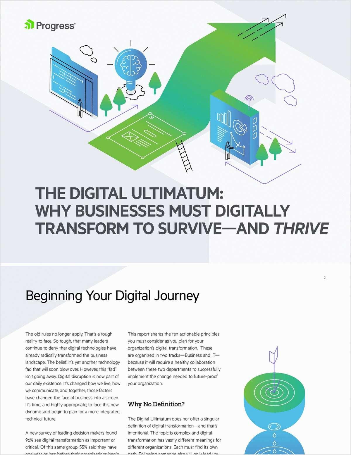 Transforming Experiences - The Digital Ultimatum