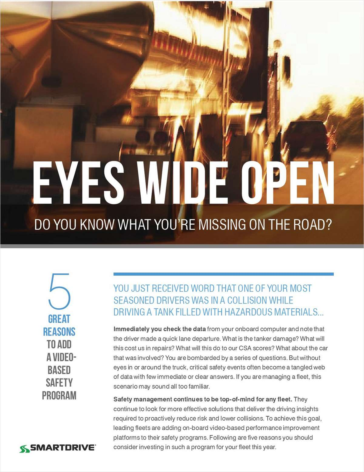 Eyes Wide Open - Do You Know What You're Missing On The Road?