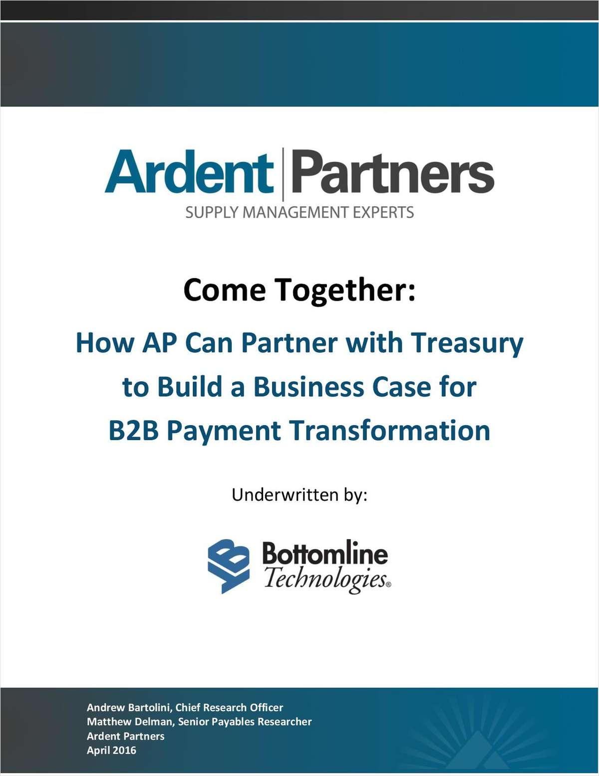 How AP Can Partner with Treasury to Build a Business Case for B2B Payment Transformation