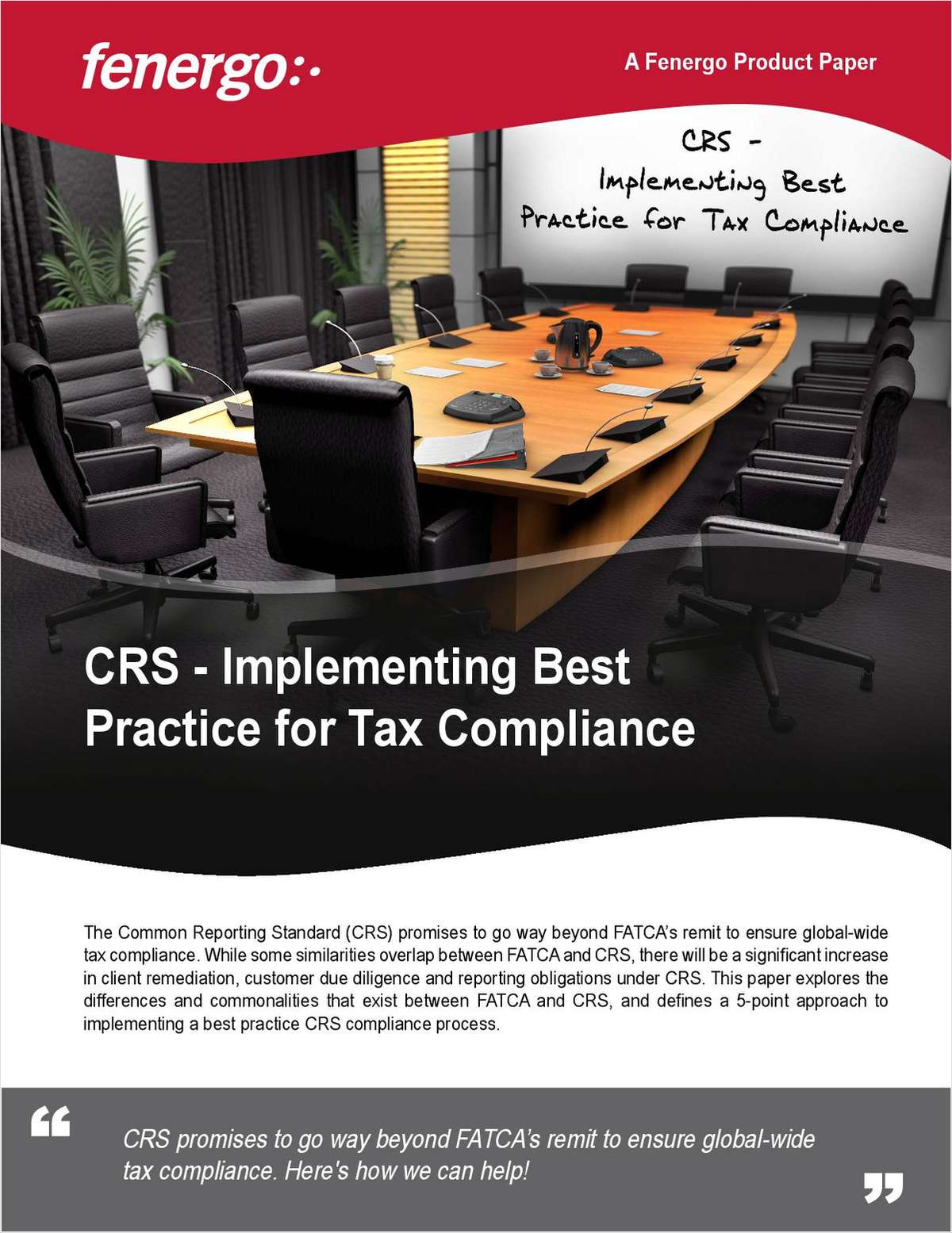 CRS - Implementing Best Practice Global Tax Compliance