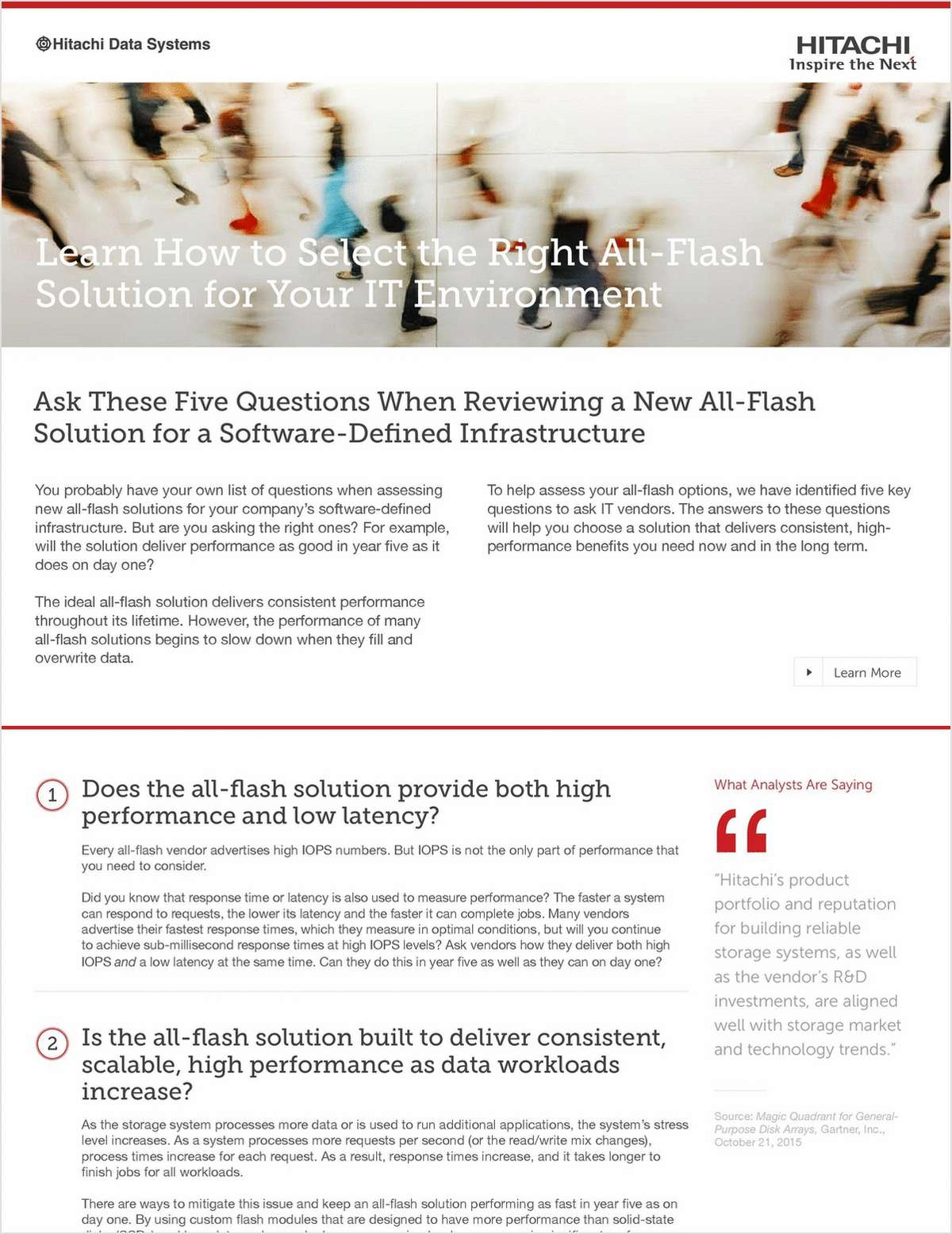 Learn How to Select the Right All-Flash Solution for Your IT Environment