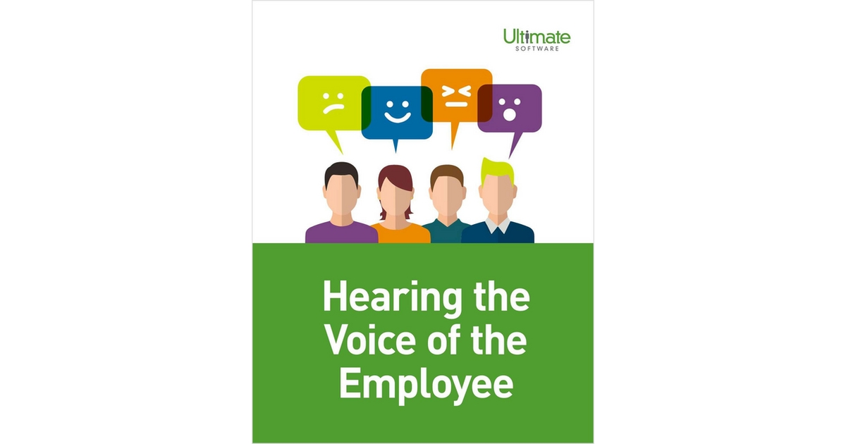 Hearing The Voice Of The Employee Free Ultimate Software