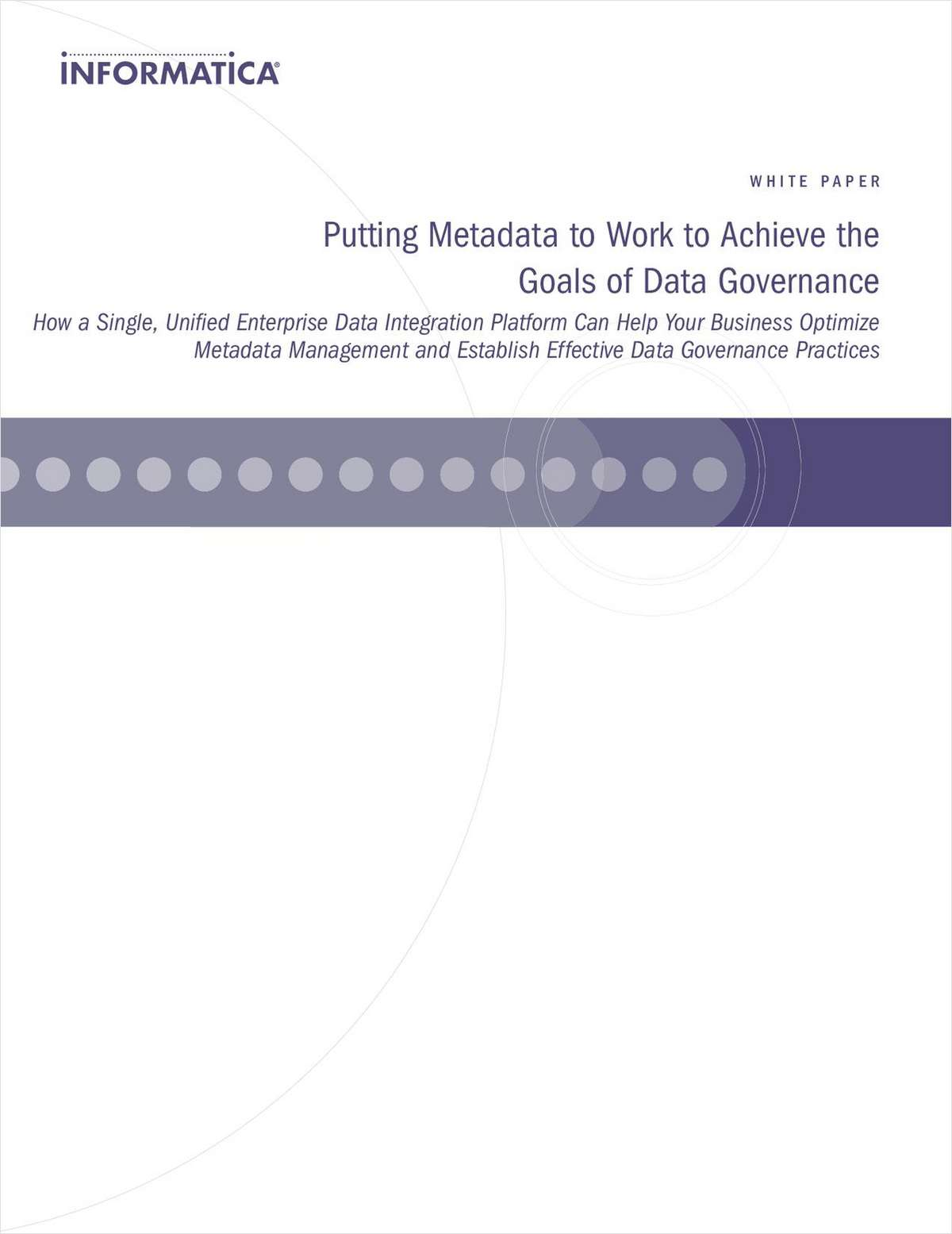 Putting Metadata to Work to Achieve the Goals of Data Governance