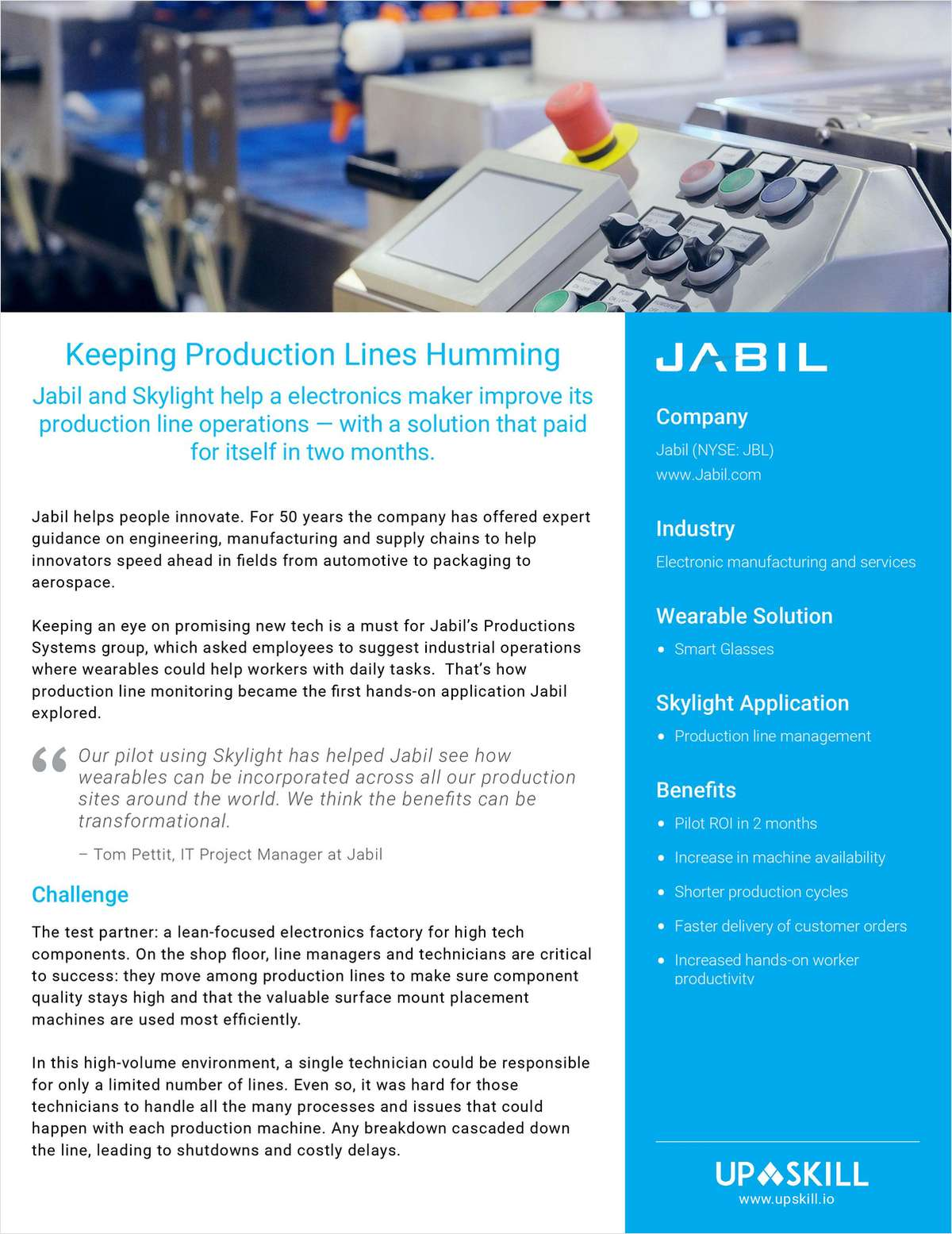 How Jabil Keeps Production Lines Humming Using Smart Glasses