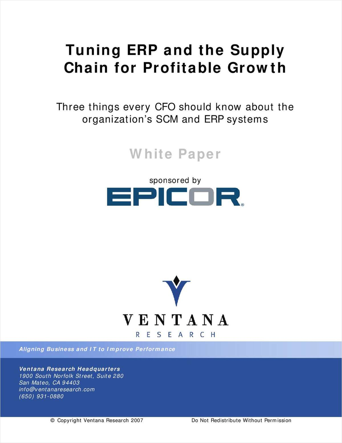 Tuning ERP and the Supply Chain for Profitable Growth