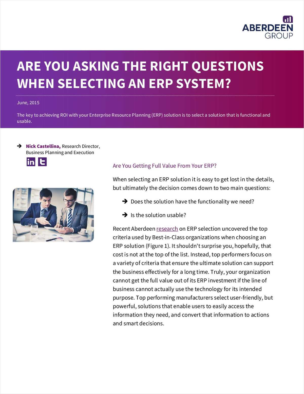 Are You Asking the Right Questions When Selecting an ERP System?