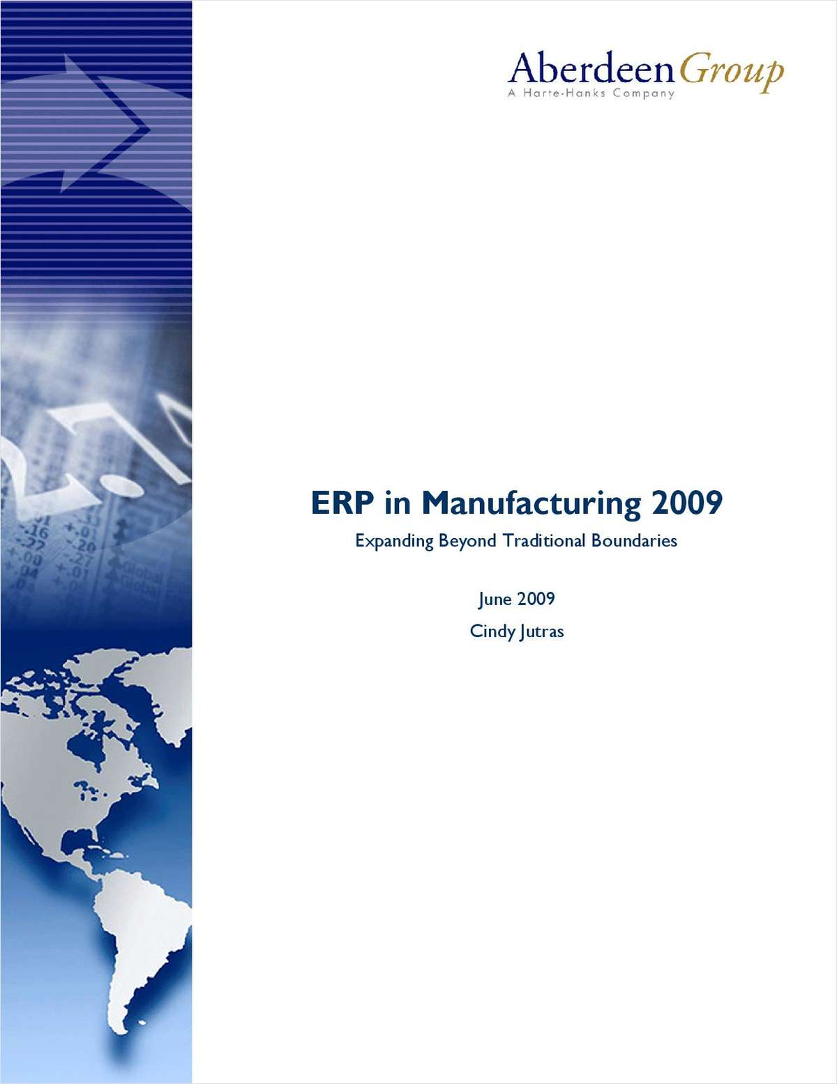 ERP in Manufacturing: Expanding Beyond Traditional Boundaries - Aberdeen Group