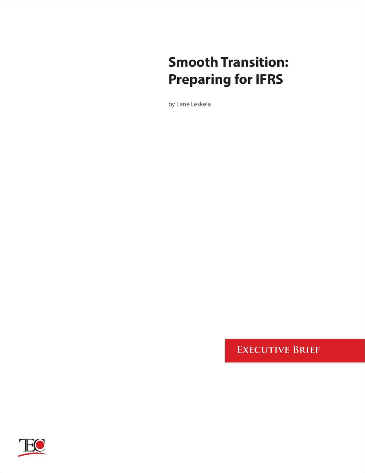 Smooth Transition: Preparing for IFRS