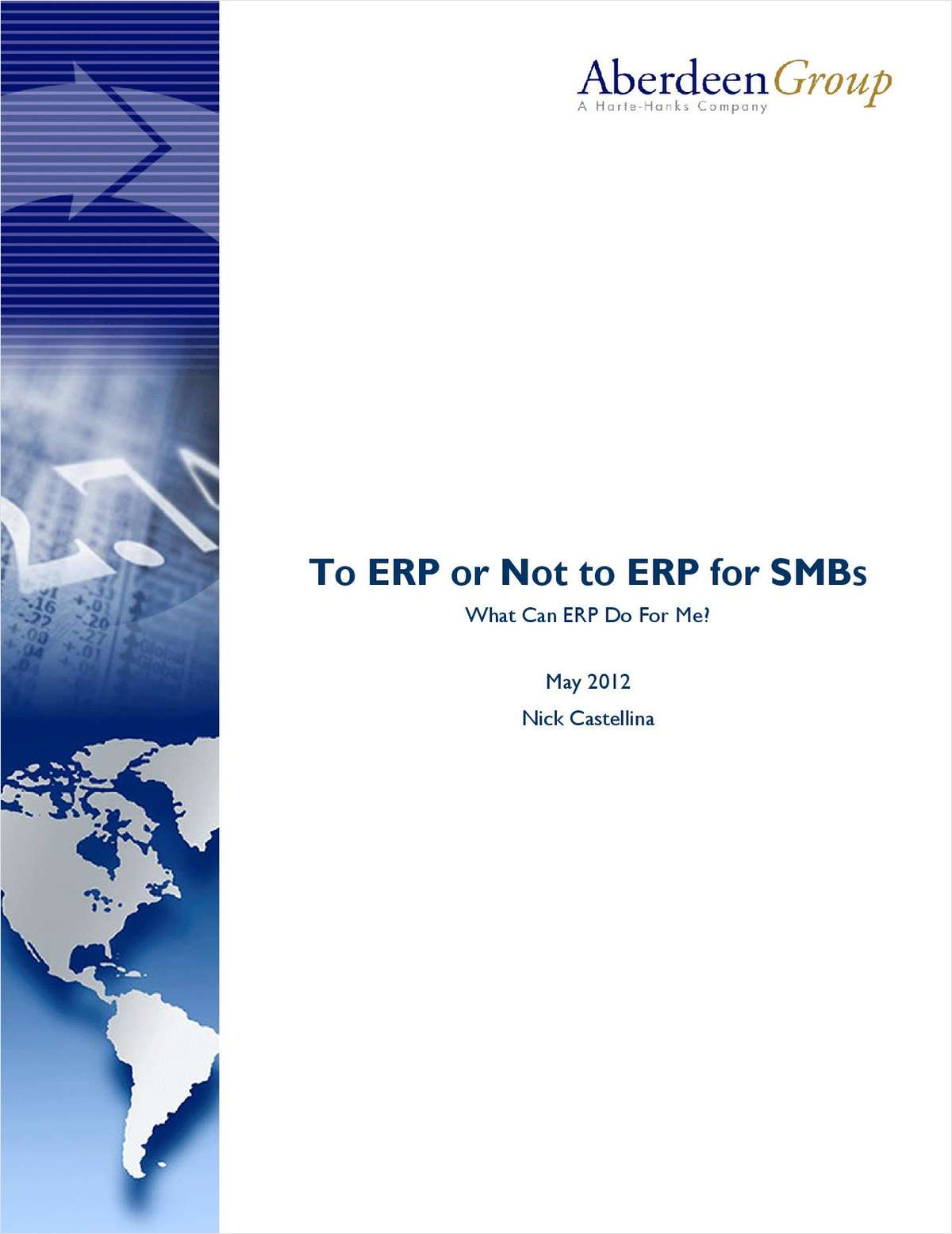 To ERP or Not to ERP for SMB's